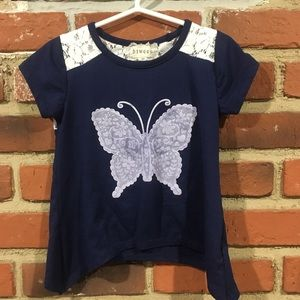 Butterfly tee size 4 🌈 5 for $25